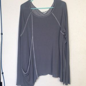 Hard Tail long sleeve tunic top with pocket size L